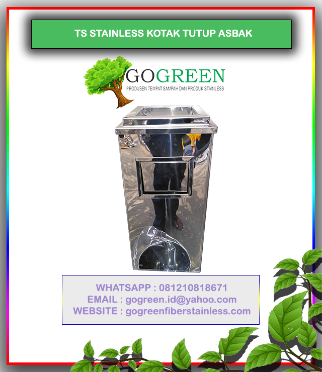jual-tempat-sampah-stainless-steel-kotak-single-tong-standing-asthray